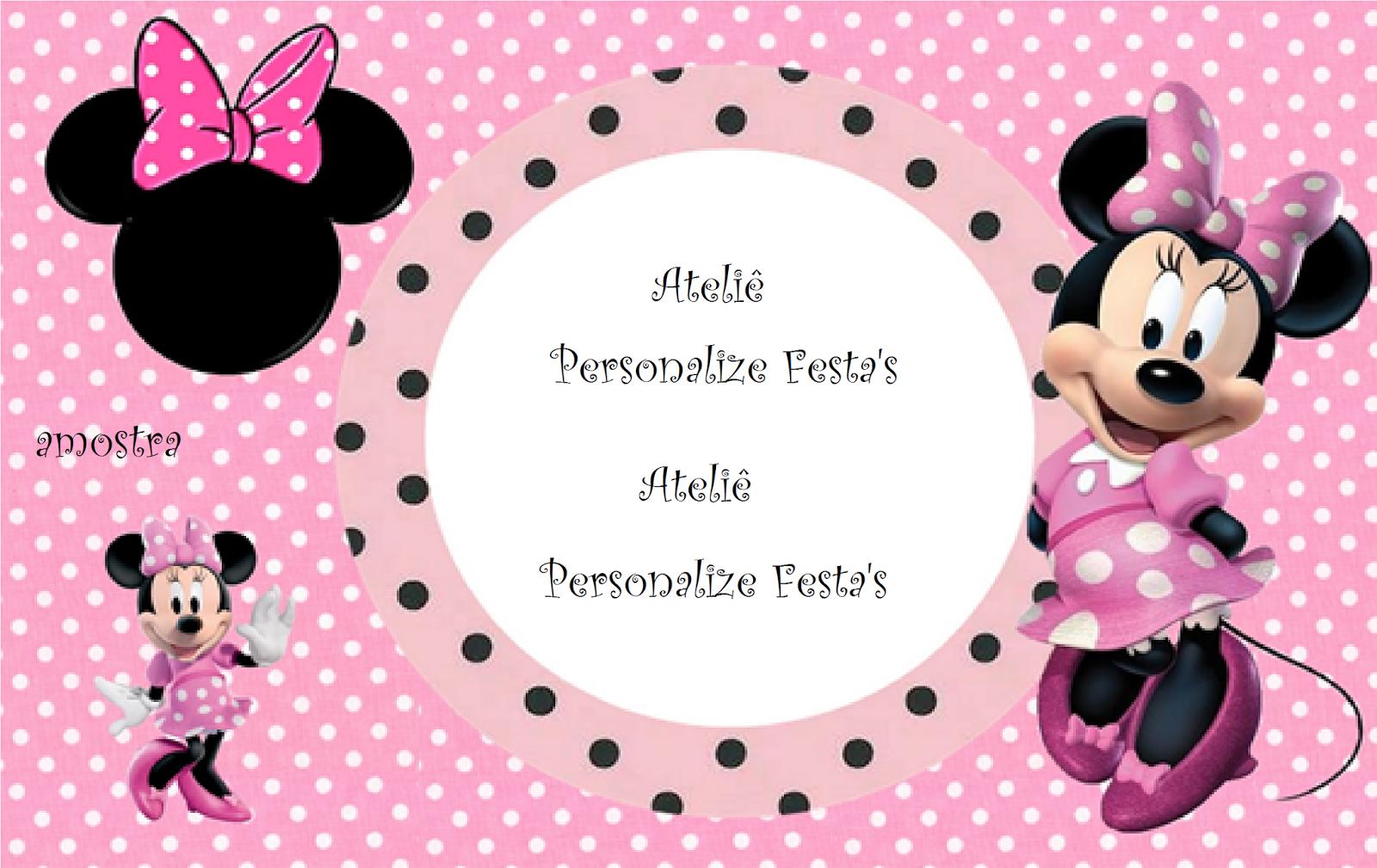 Ateli 234 Personalize Festa S Minnie Rosa