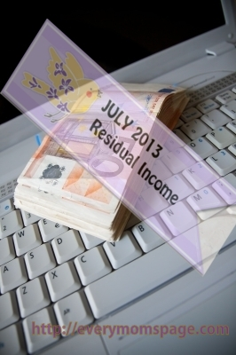 My Residual Income Online on July 2013