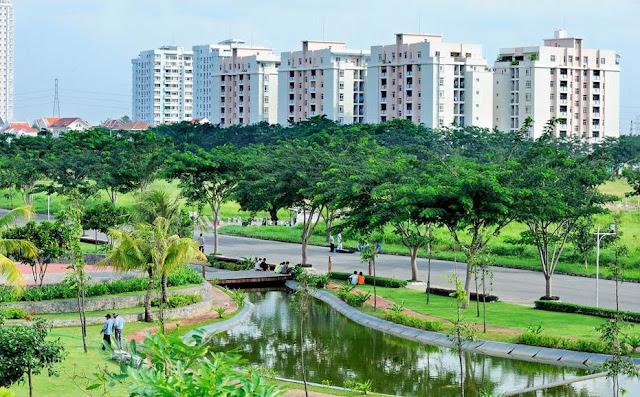 công viên cây xanh tại Samsora Premier 105