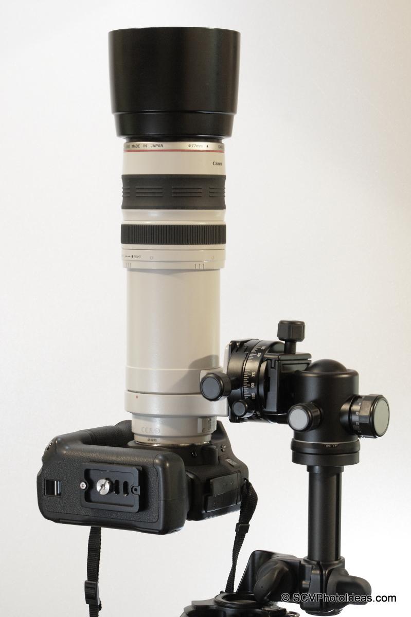Alternative Gimbal Head w/ Canon EF 100-400 L IS USM & Canon EOS 50D zenith