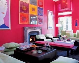Diseño de sala rosa