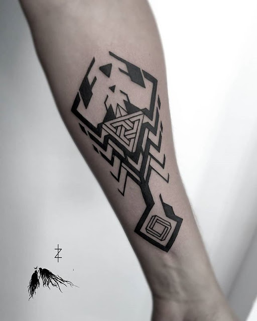 Tribal Scorpion Tattoo,foot scorpion tattoo