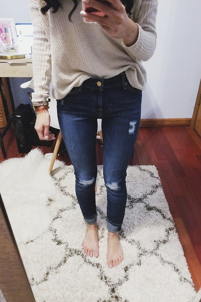 7 for all mankind ankle skinny jean review
