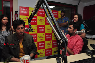 Vidyut Jamwal Adah Sharma Commando 2 Movie Team at Radio Mirchi 95  0034.jpg