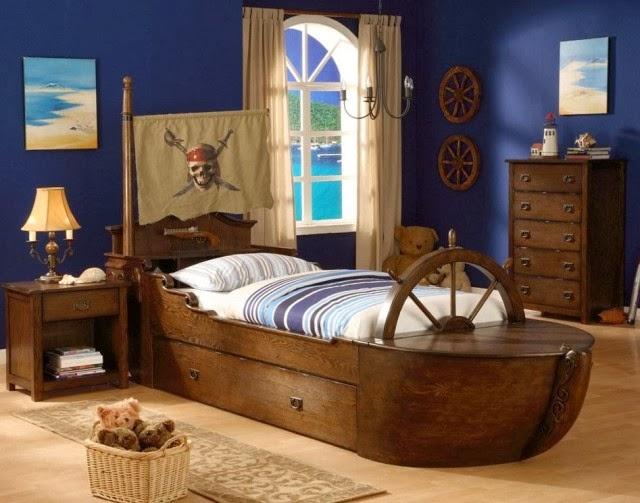 habitación decorada tema piratas