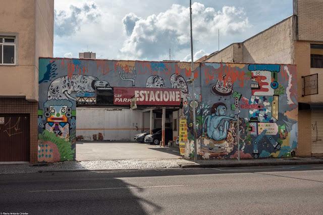 Um grafite na Cruz Machado