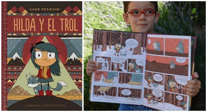 mejores cuentos niños 5 a 8 años, hilda y el trol, cómic infantil