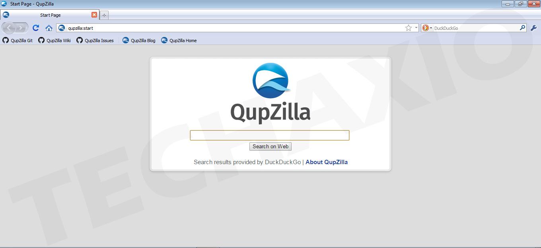 QupZilla Browser Screenshot