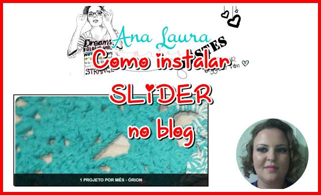 Como instalar Slider no blog