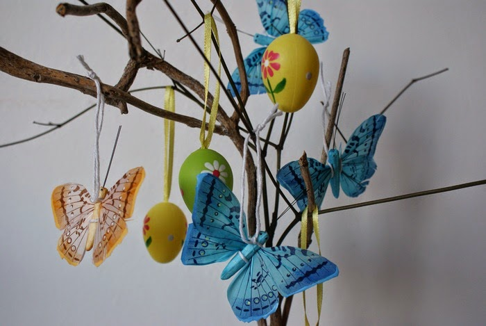 easter decoration diy butterflies eggs