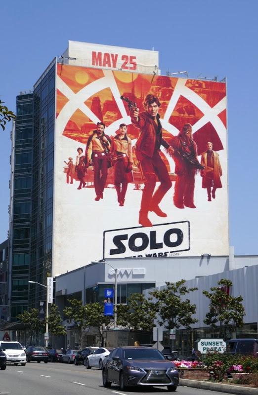 Solo Star Wars film billboard
