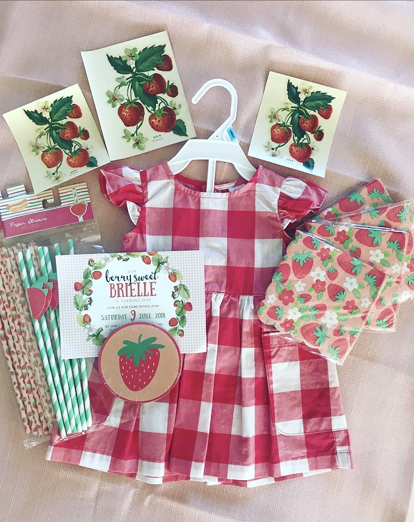 Vintage Strawberry Picnic Birthday Party Delightfully Noted