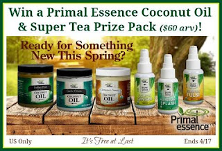 Enter the Primal Essence Cocout Oil & Super Tea Giveaway