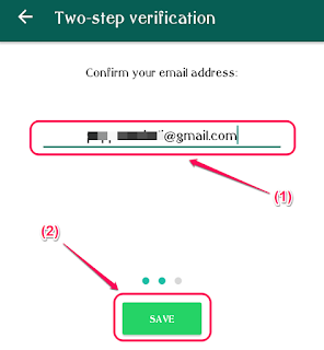 WhatsApp Screenshot - Confirm Email Screen