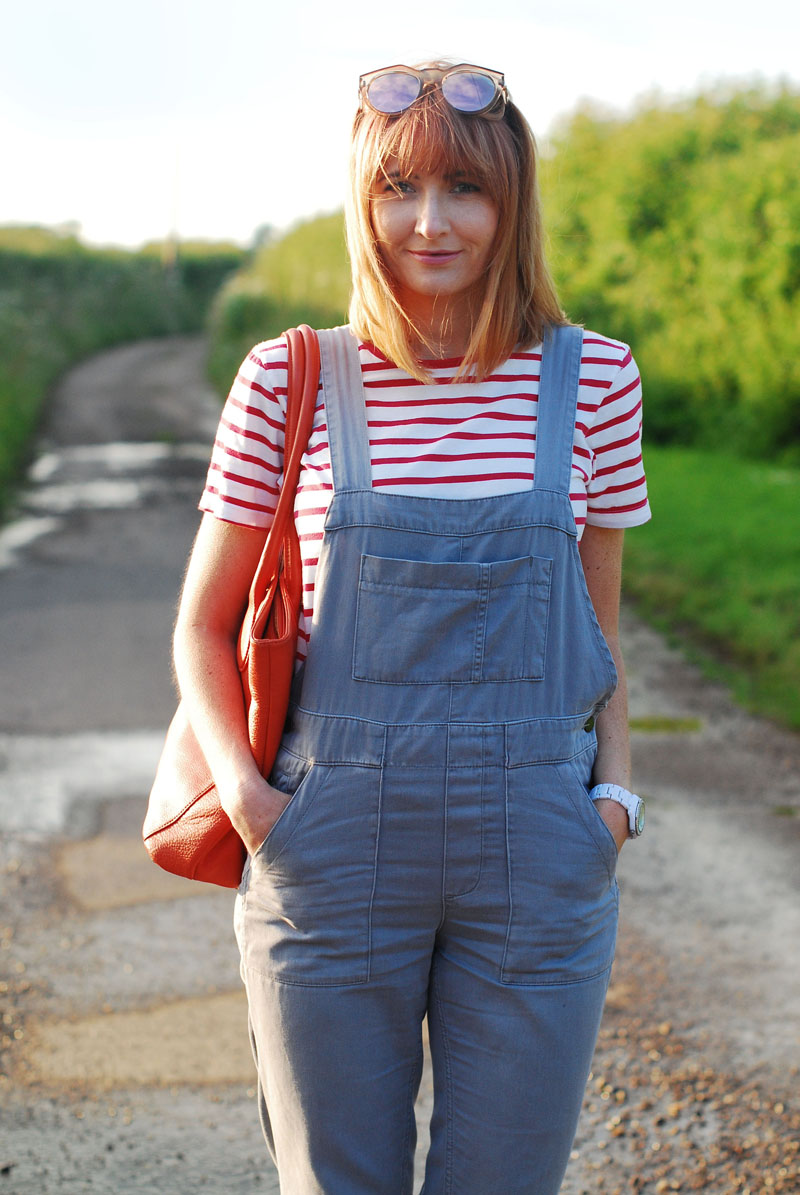 2f7e7c0d162 Grey Dungarees With a Bright Pop of Colour  iwillwearwhatilike - Not ...