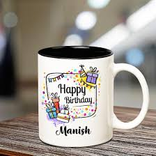 Happy Birthday Manish Cup