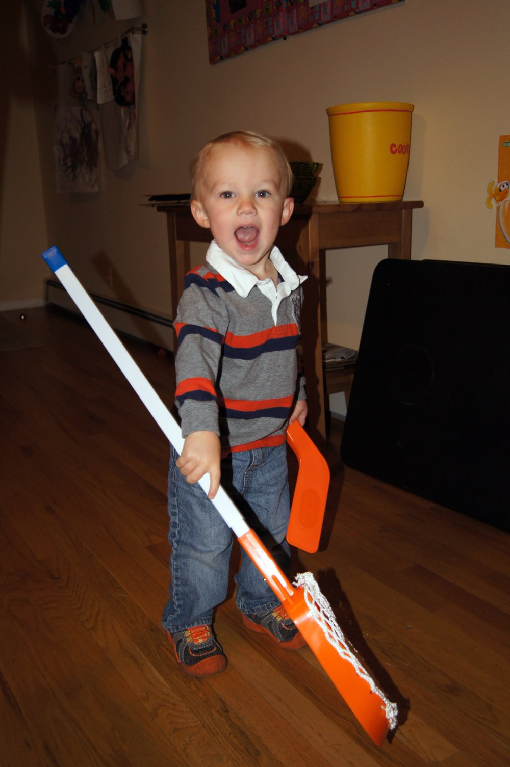 Toddler With Lacrosse Stick