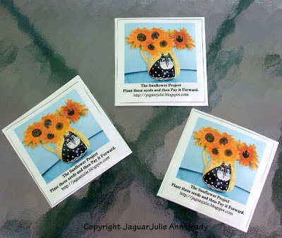 Three Sunflower Seed Packets from The Sunflower Project