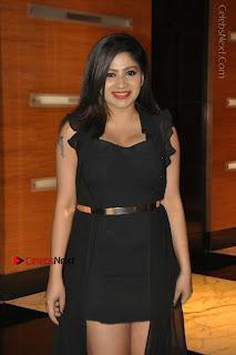 Telugu Actress Model Madhulagna Das Latest Spicy Stills in Black Short Dress  0007.JPG