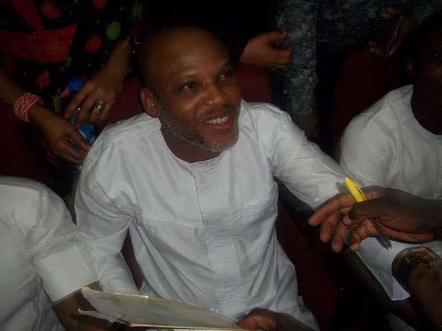 Photos: Nnamdi Kanu appears in Abuja High Court