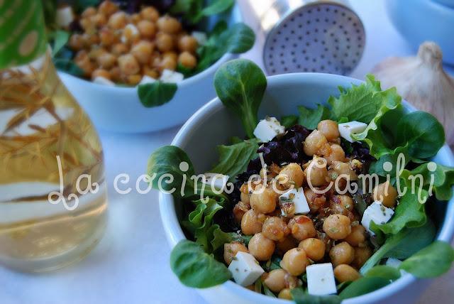 Ensalada templada de garbanzos (la cocina de Camilni)