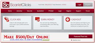 Cara Mendapatkan Dollar Dari PTC Scarlet Clicks