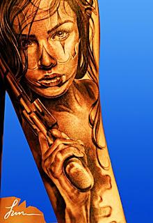 tatuaje mixte, idei ,