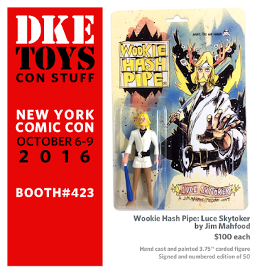 New York Comic Con 2016 Exclusive Wookie Hash Pipe Luce Skytoker Resin Figure by Jim Mahfood x DKE Toys!