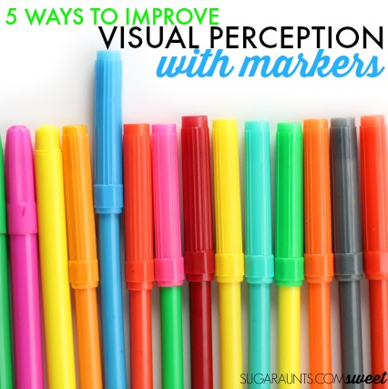 Improve handwriting by working on visual perceptual skills with markers.