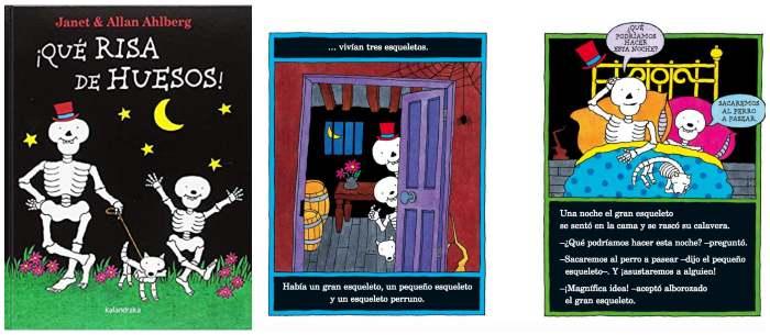 cuento infantil niños halloween ¡Qué risa de huesos! kalandraka