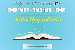 HASIL UN SMK Kota Yogyakarta Tahun 2015 – 2017
