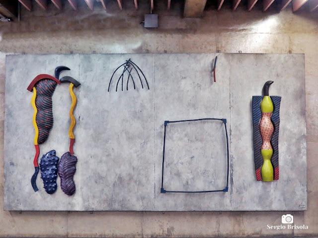 Close-up do Painel A Sagração da Primavera - Metrô Ana Rosa - São Paulo