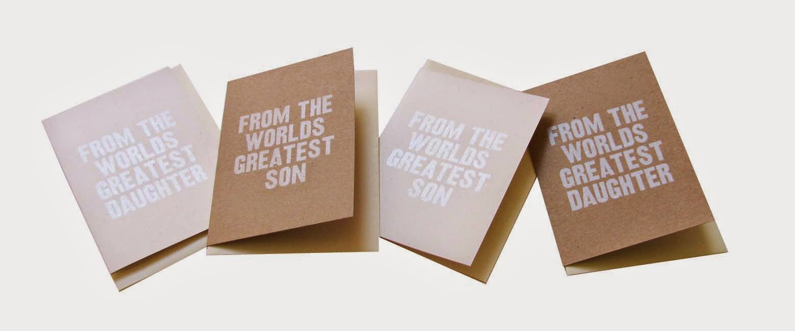 21c3b921 screen printed Father's Day cards from Happy Accident Co. £3.50