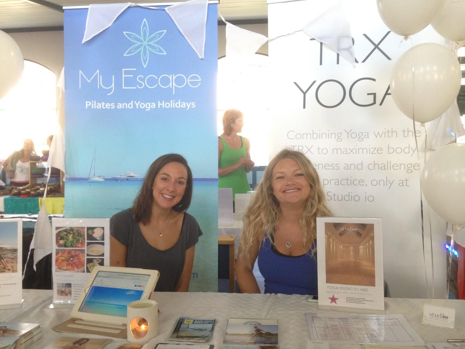 Brighton Yoga Festival - Ellie & Holly from MyEscape / Studio iO
