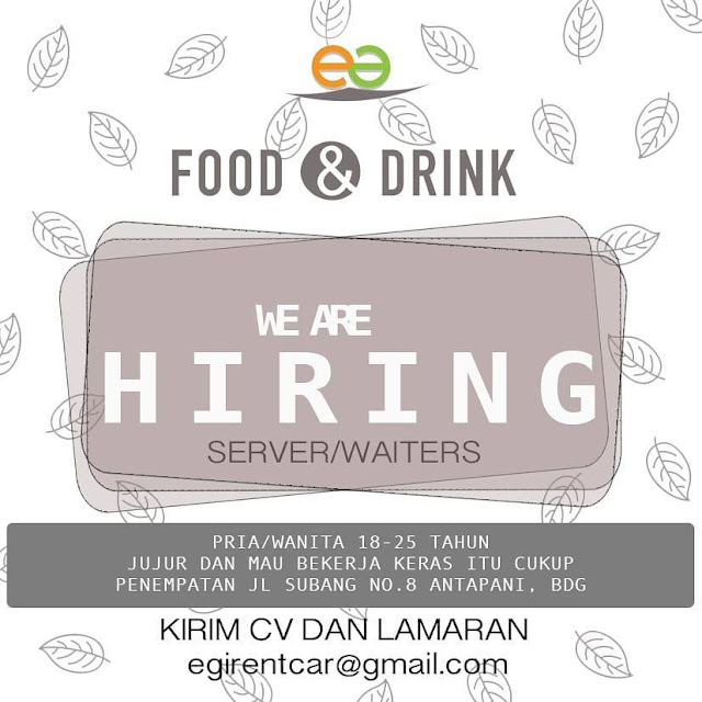 Loker Waiter di Kota Bandung