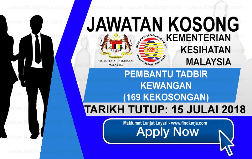 Jawatan Kerja Kosong KKM - Kementerian Kesihatan Malaysia logo www.ohjob.info www.findkerja.com julai 2018