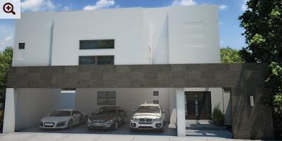 fachada casa moderna muestra hogar residencia ejemplo moderna