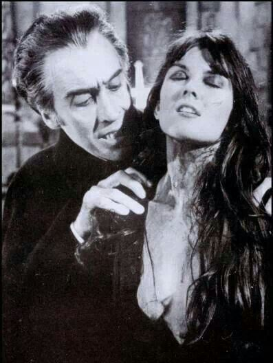 Dracula AD 1972, Christopher Lee and Caroline Munro