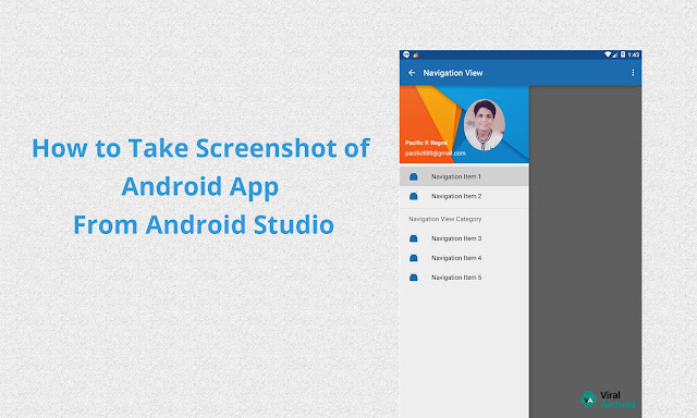 How to Take Screenshot of Android Application From Android Studio