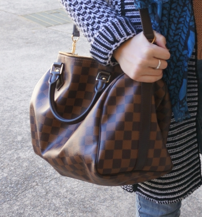 Away From Blue Blog | Louis Vuitton Damier Ebene 30 speedy bandouliere