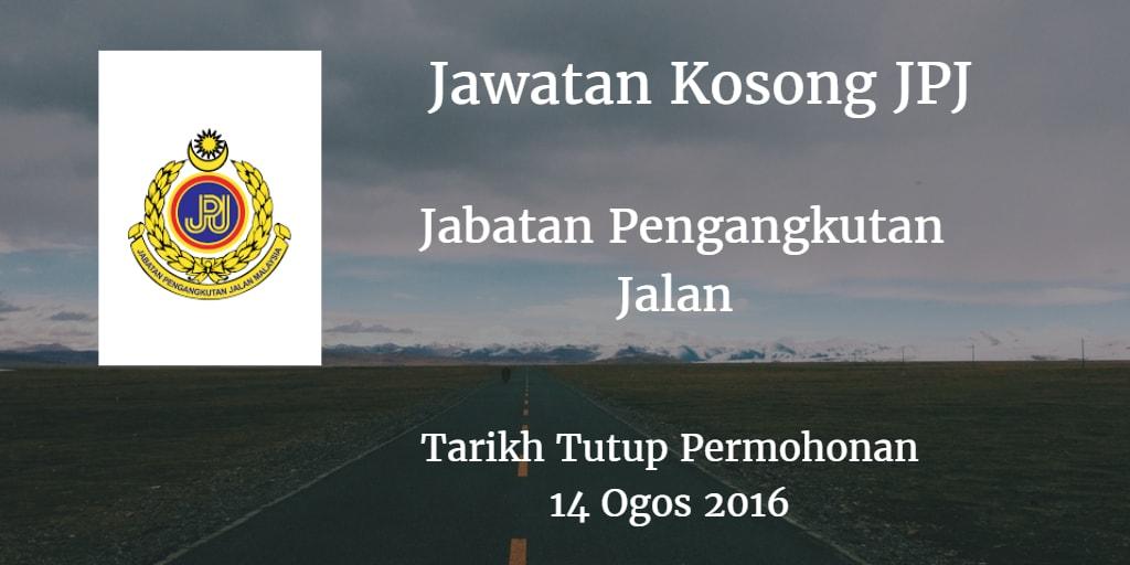 Jawatan Kosong JPJ 14 Ogos 2016