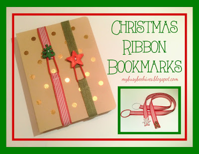 Easy Christmas Ribbon Bookmarks