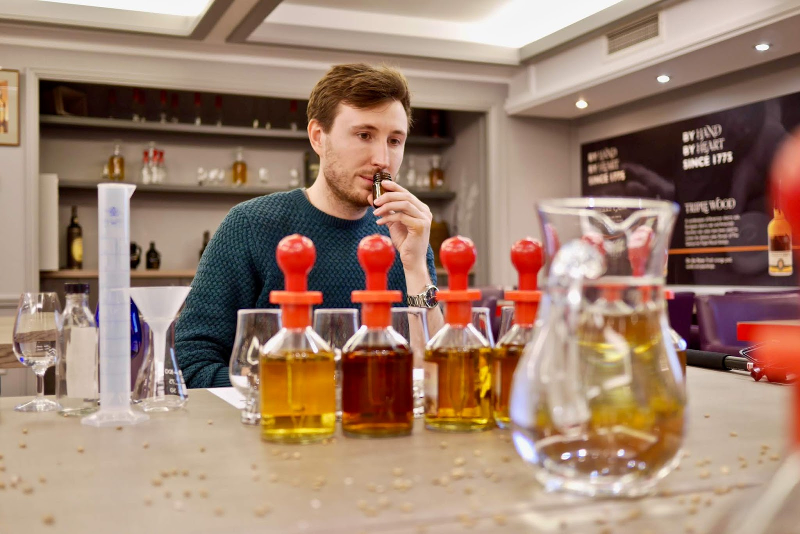blending experience at The Famous Grouse Experience at Glenturret Distillery