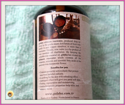 Product Description of Gulsha Ultimate Rosewater