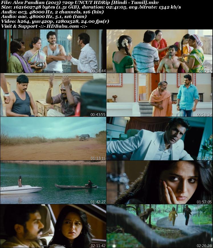Alex Pandian Hindi Dual Audio Full Movie Download, Alex Pandian Hindi Dubbed Full Movie Download, Alex Pandian Tamil Hindi Dual Audio 720p UnCut HDRip 480p 1GB 350MB