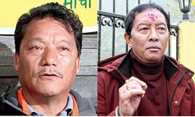 GJM president Bimal Gurung Binay Tamang