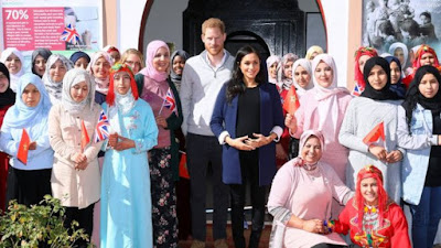 Duke and Duchess of sussex promoting gender equality in Morocco