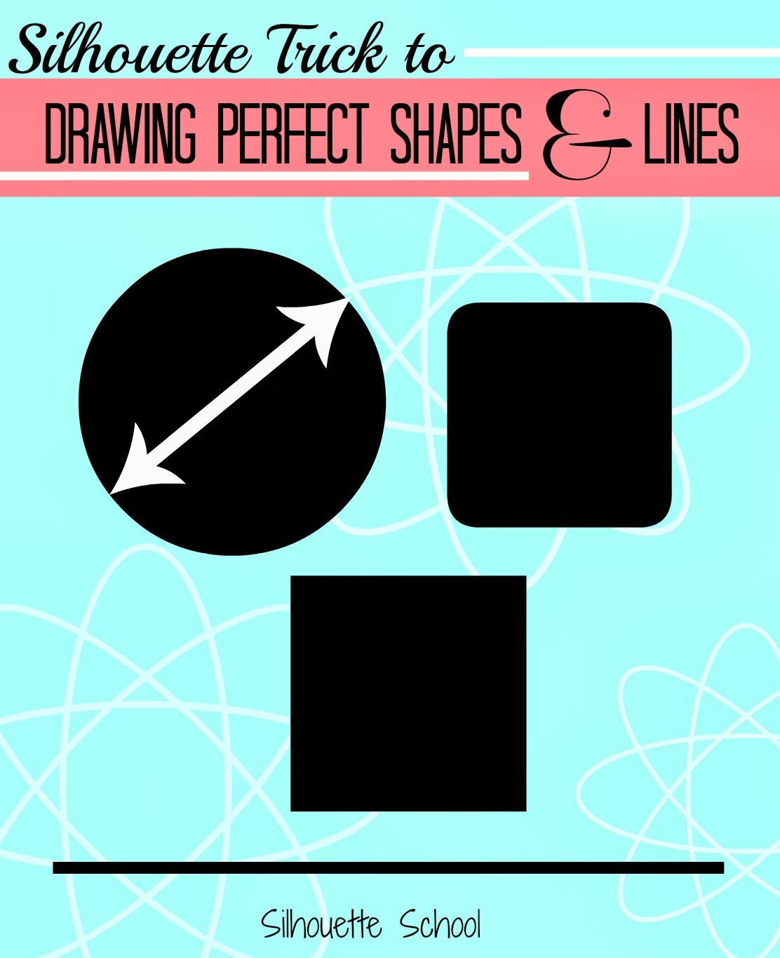 Draw, perfect, circle, square, straight line, Silhouette Studio