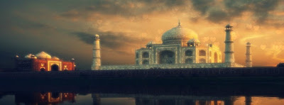 love symbol The Taj mahal