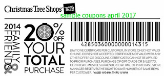 Christmas Tree Shops coupons april 2017